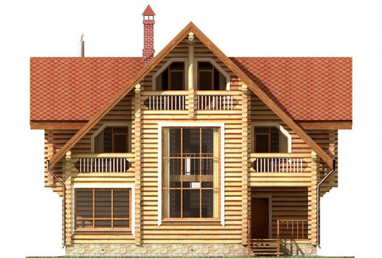 Дом из бревна 149