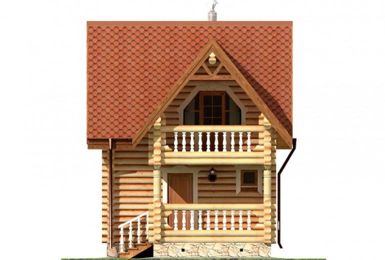 Дом из бревна 84