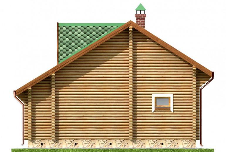Дом из бревна 72