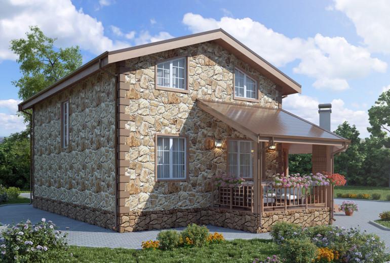 Дом из камня 135,7