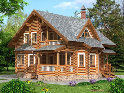 Дом из бревна 170
