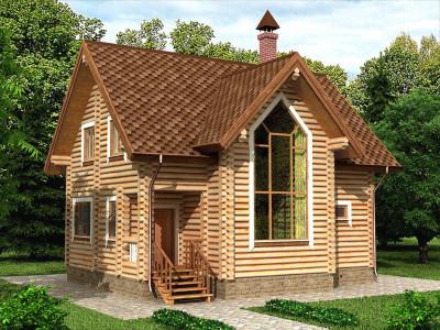 Дом из бревна 144