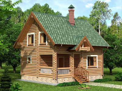 Дом из бревна 121