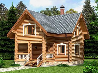 Дом из бревна 169