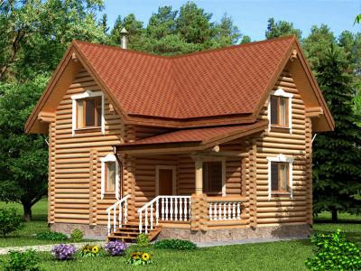 Дом из бревна 119