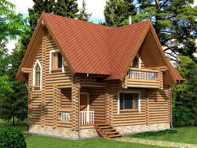 Дом из бревна 110