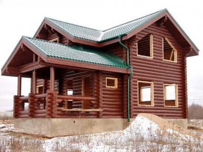 Дом из бревна 168