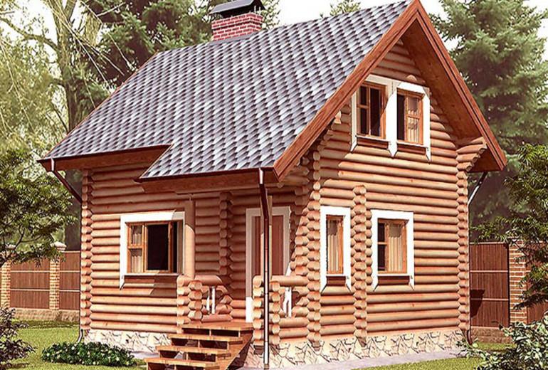 Дом из бревна 75