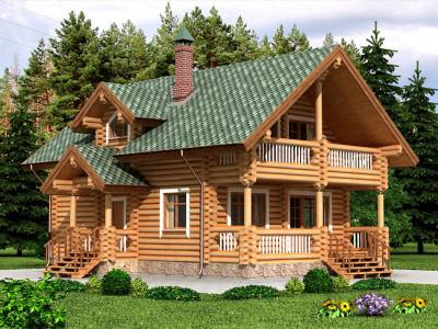 Дом из бревна 179