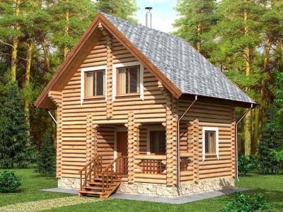 Дом из бревна 74