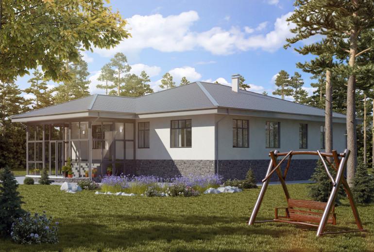 Дом из камня 217,3
