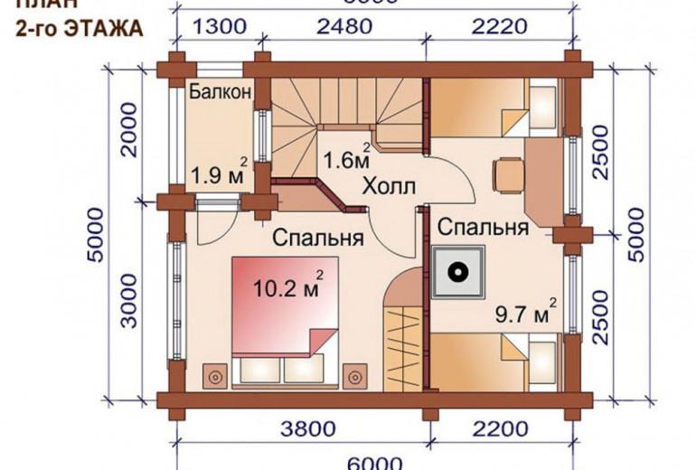 Дом из бревна 60