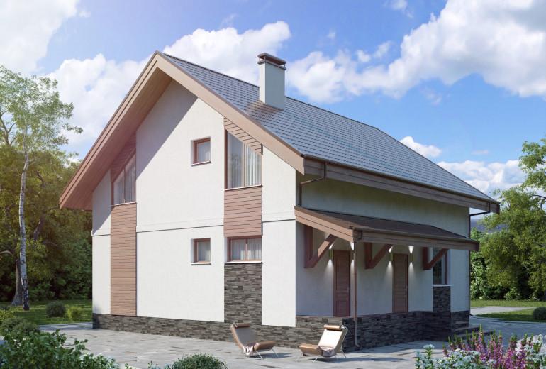 Дом из камня 168,1