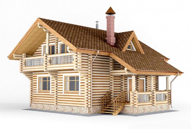 Дом из бревна 147