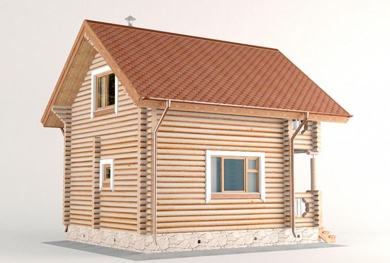 Дом из бревна 70