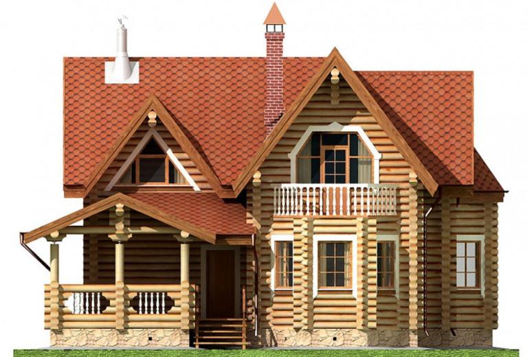 Дом из бревна 166