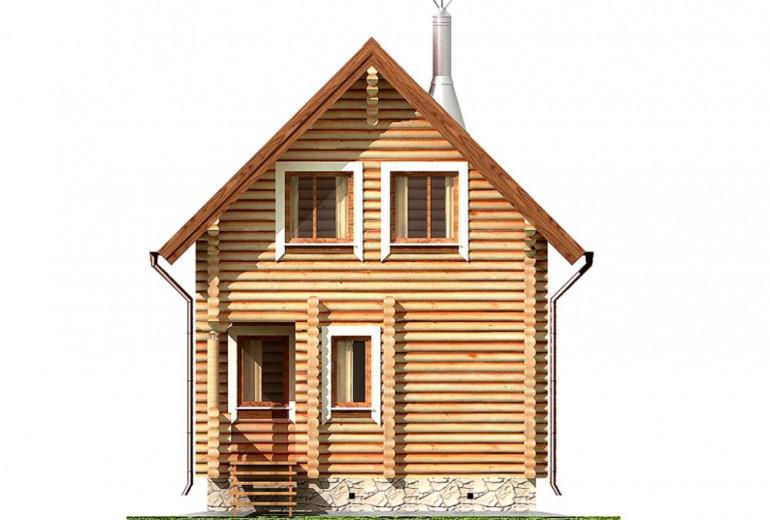 Дом из бревна 63