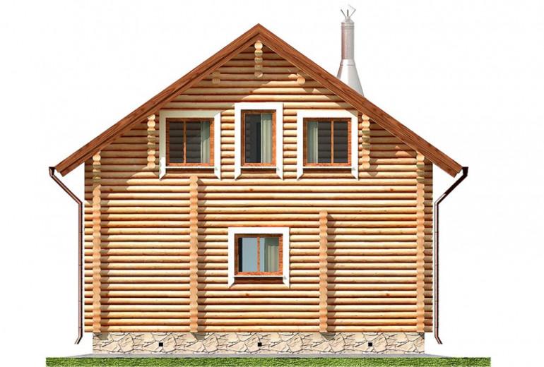 Дом из бревна 82