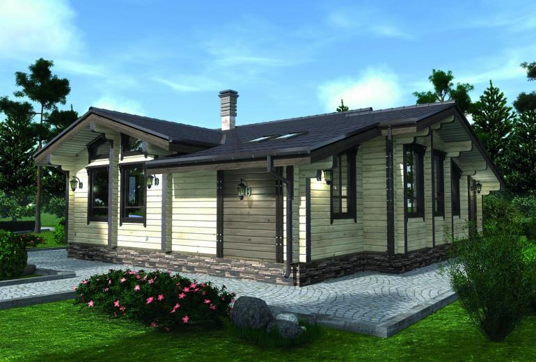 Дом из бруса СП-140